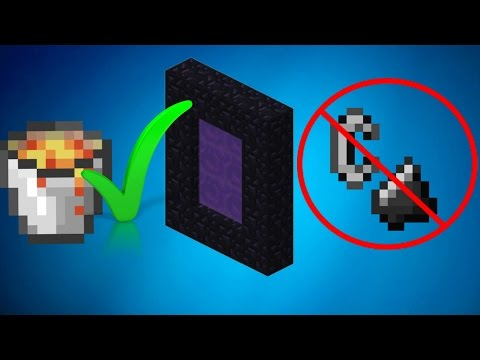 Minecraft: How to Light a Nether Portal without Flint And Steel