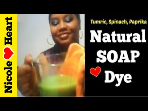 Natural Soap Dye | Spinach, Paprika & Turmeric