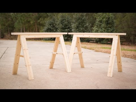 Build a Pair of Sturdy Folding Sawhorses