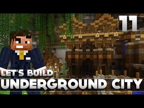 Minecraft - Advanced Underground Base/City Tutorial Let's Build Part 11 Xbox 360/PC/PS3