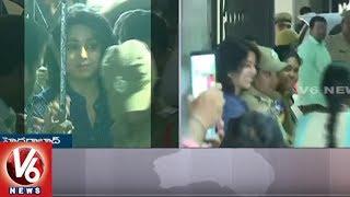 Actress Charmi Interrogation Ends || Drugs Case || V6 News