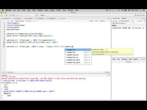 R Tutorial 2: dplyr and SQL Queries Comparison/Validation