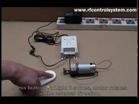 DC Motor Remote Controller Forward & Reversal Time Delay