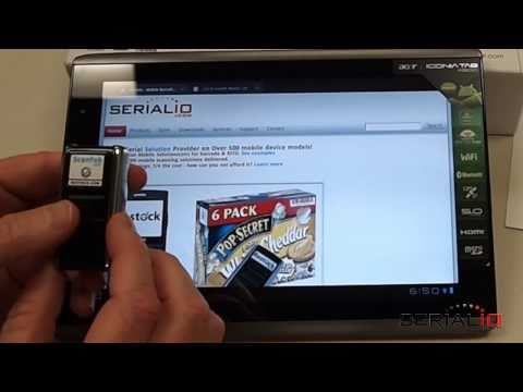 Acer Iconia A500 Honeycomb Bluetooth Laser Scanner & SerialMagic Keys