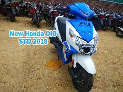 New 2018 Honda Dio Std Blue Colour Walkaround Djfo5 Videostube
