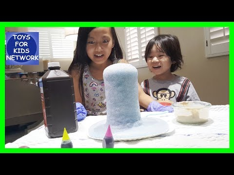Volcano Eruption With Alcohol and Yeast Expriment for Youtube Kids