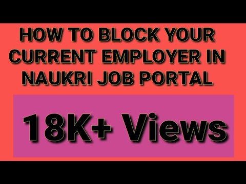 How to block your current company/employer in Naukri Job Portal