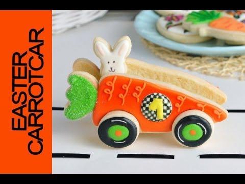 3D EASTER CARROT CAR COOKIE TUTORIAL