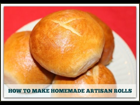 DIY ARTISAN BREAD DINNER ROLLS- ONLY 4 INGREDIENTS
