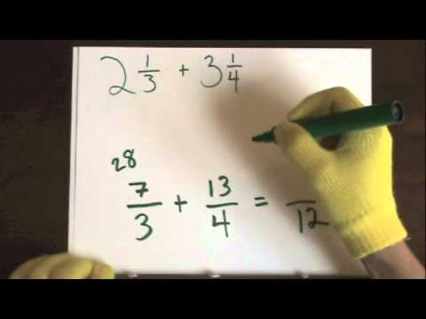 Add Fractions (Mixed Numbers) With Unlike Denominators Part 2