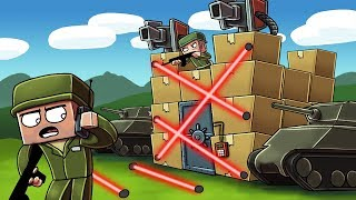 Minecraft | ULTIMATE BOX FORT DEFENSE CHALLENGE! (Box Fort vs Box Fort)