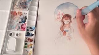 【Watercolor】 Speedpainting