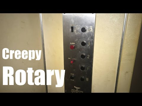 Awesome & Creepy Vintage Rotary Hydraulic Elevator @ A Building in Manitowoc, WI