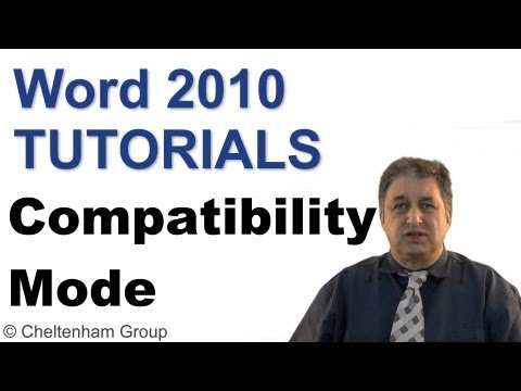 Word 2010 Tutorial | Compatibility Mode | Full Course