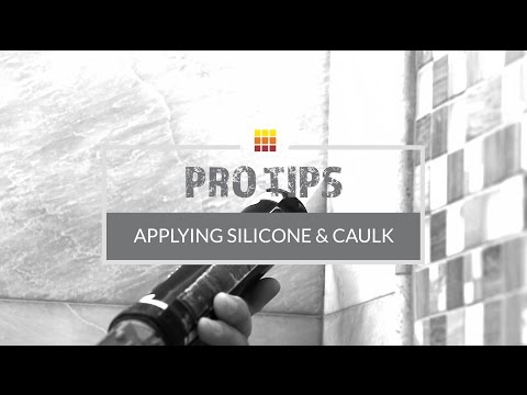 Tile Installation: Applying Silicone & Tile Caulk