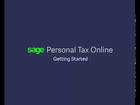 Sage Personal Tax Online — Getting Started (UK)
