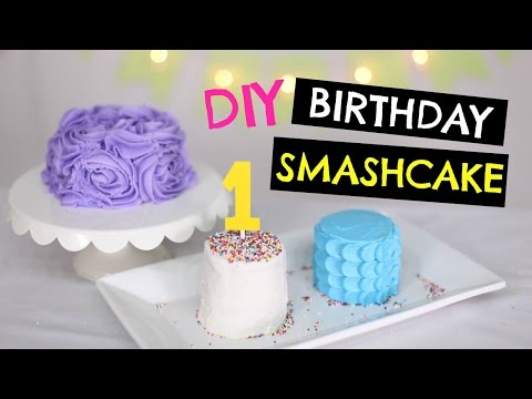 DIY 1st Birthday SMASH Cake for BABY: 3 Ways to DECORATE