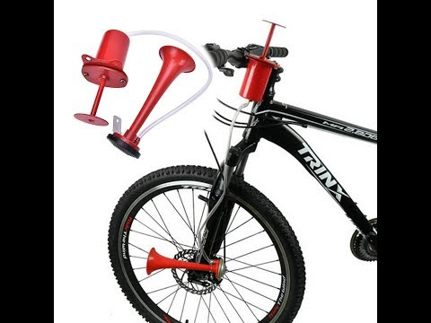 The Bicycle Air Pump Horn 120DB Super Loud Instructions Review And Unboxing