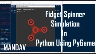 Download Fidget Spinner Simulation Using Pygame Video