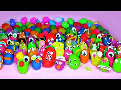 100+ Funny Surprise Play Doh Eggs Peppa Pig Disney Princess Shopkins Spiderman Lalaloopsy