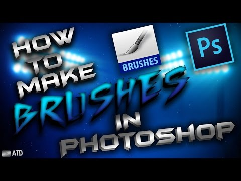 How to make brushes in photoshop (.abr file)