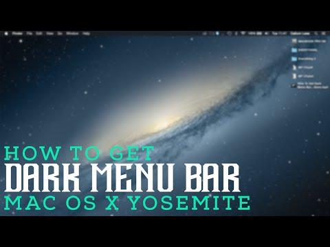 How To Get Dark Menu Bar, Dock and Buttons: Mac OS X Yosemite 10.10