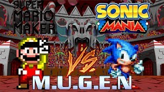 SK MUGEN - Homer Simpson & Super Mario vs 4 Random Characters