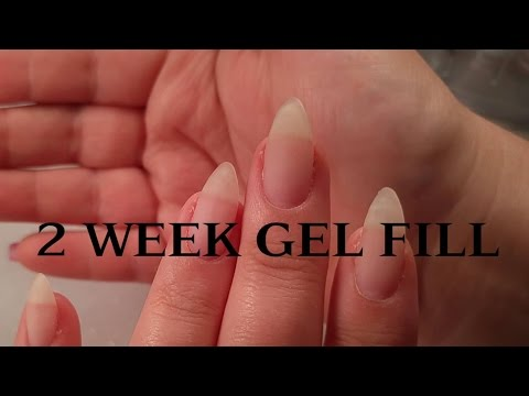 Two week gel fill over natural nails /Gel overlay/  - updated