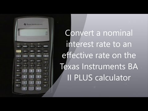 Converting nominal interest rate to effective interest rate on the TI II Plus calculator