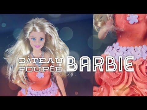 RECETTE GATEAU POUPEE BARBIE   HOW TO MAKE A BARBIE DOLL CAKE