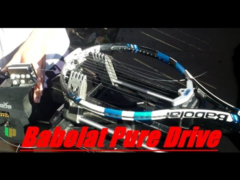 Stringing a Babolat Pure Drive Tennis Racquet