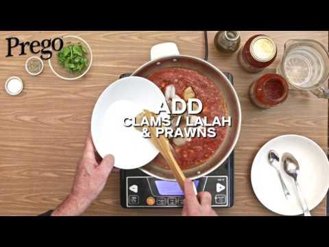 Prego Fettuccine Seafood Siciliana - 60secs Video Tutorial