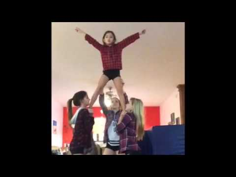 Cheer stunts at home