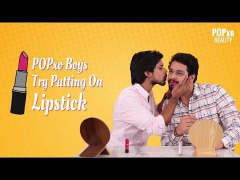 POPxo Boys Try Putting On Lipstick - POPxo Beauty
