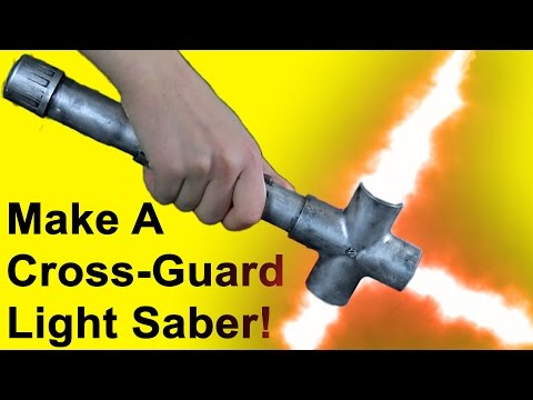 How to Make a Crossguard Light Saber (DIY)