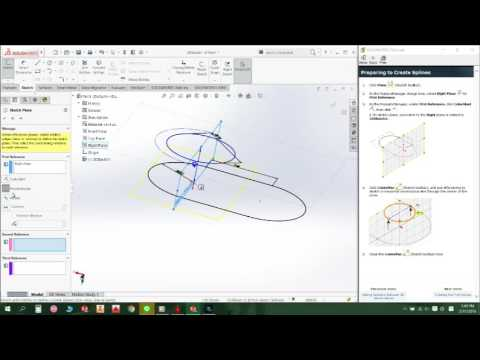 Tutorials of 3D Sketching with Planes (Solidworks)