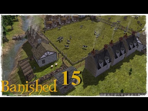 Let's Play modded Banished - S1 E15 - Cows and Dairy!