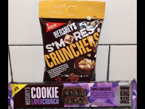 Hershey's: S'mores Crunchers and Triple Chocolate Cookie Layer Crunch Bar Review