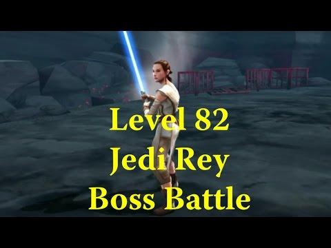 Star Wars: Galaxy Of Heroes - Jedi Rey Starkiller Base Boss Level 82