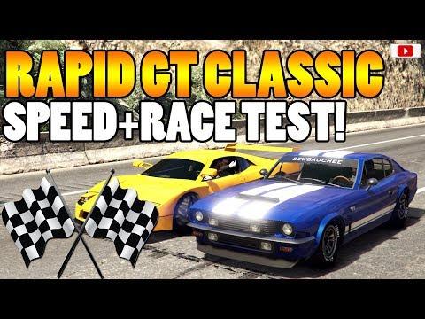 😍🏁Zieht Er Sie Alle? Rapid GT Classic Speed+Race Test!🏁😍 [GTA 5 Online Smugglers Run Update DLC]