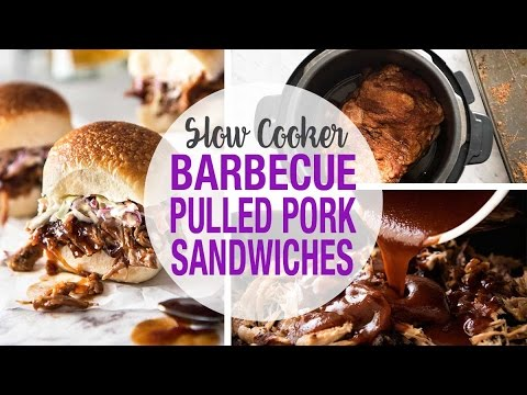 Slow Cooker BBQ Pulled Pork Sandwich
