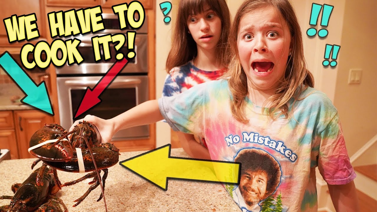 WE LET OUR KIDS COOK LIVE LOBSTERS!!