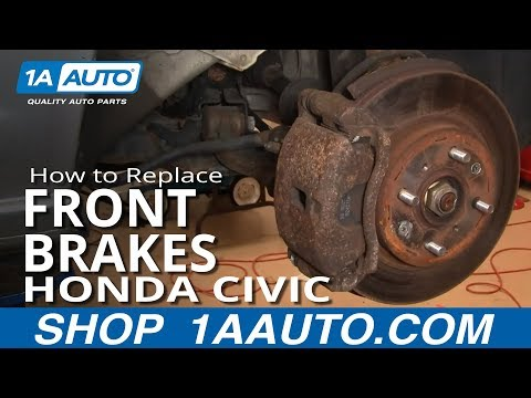 How to Install Replace Front Brakes Honda Civic 01-05 1AAuto.com