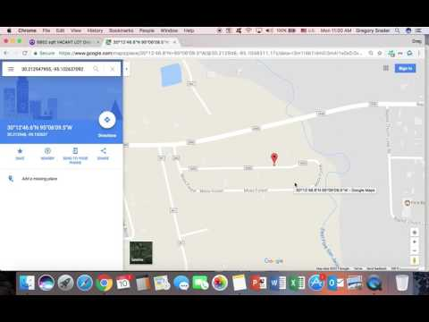 How to Enter GPS Coordinates Into Google Maps and Find Vacant Land