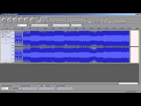 Tutorial: Changing song tempo in Audacity