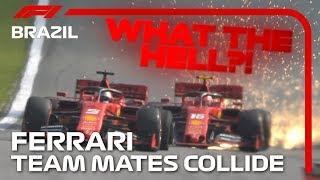 Vettel And Leclerc Collide! | 2019 Brazilian Grand Prix