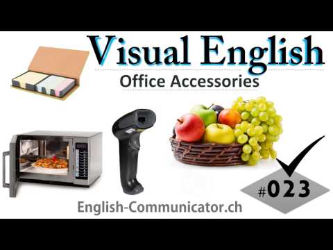 #023 Visual English Language Learning Practical Vocabulary Office Stationary Furniture Part 6