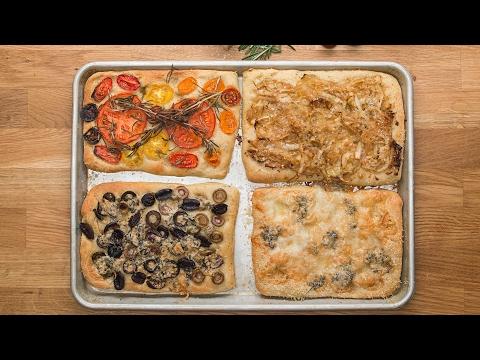 Herbed Flatbread (Focaccia) 4- ways