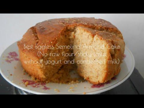 Best Eggless Semolina Ground Almond Cake (Maspin Greau Et Amande Veg Mauritian)