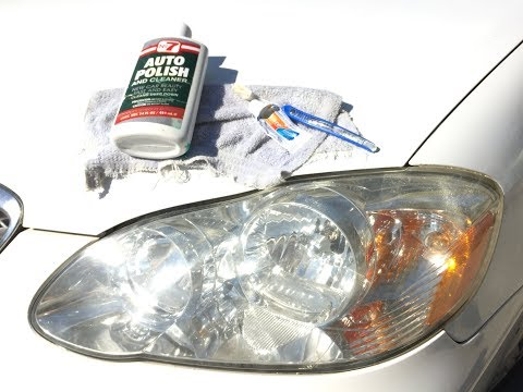 Clean Headlight Lenses Using Toothpaste